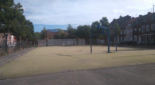 L'espace de jeux de la place Audenaerde