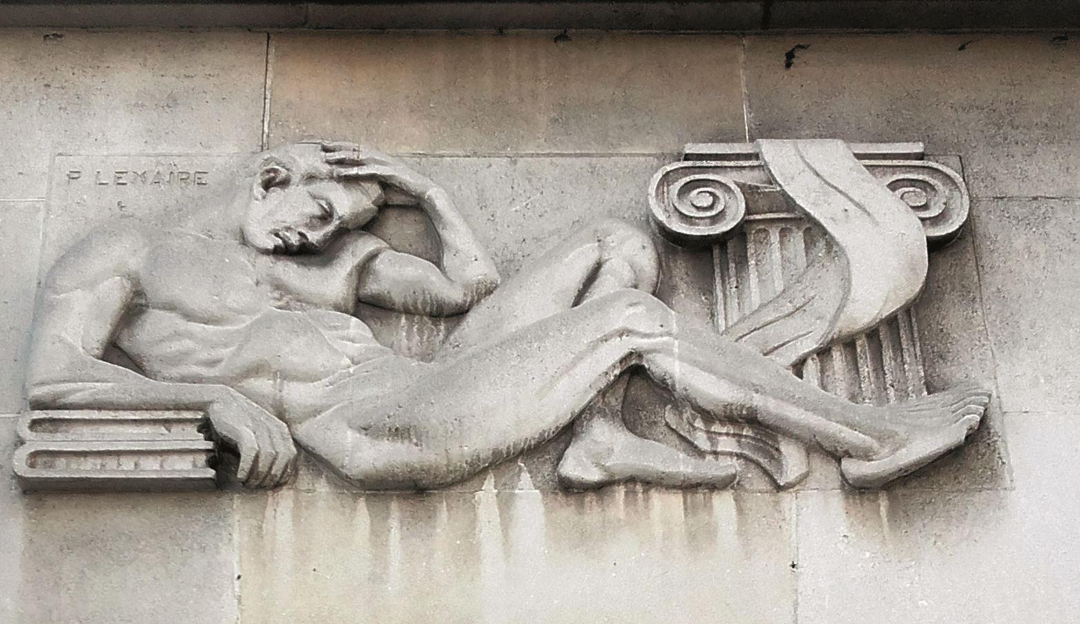 Une des sculptures signées de l'artiste roubaisien Pierre Lemaire (1958) © V.Lenglet