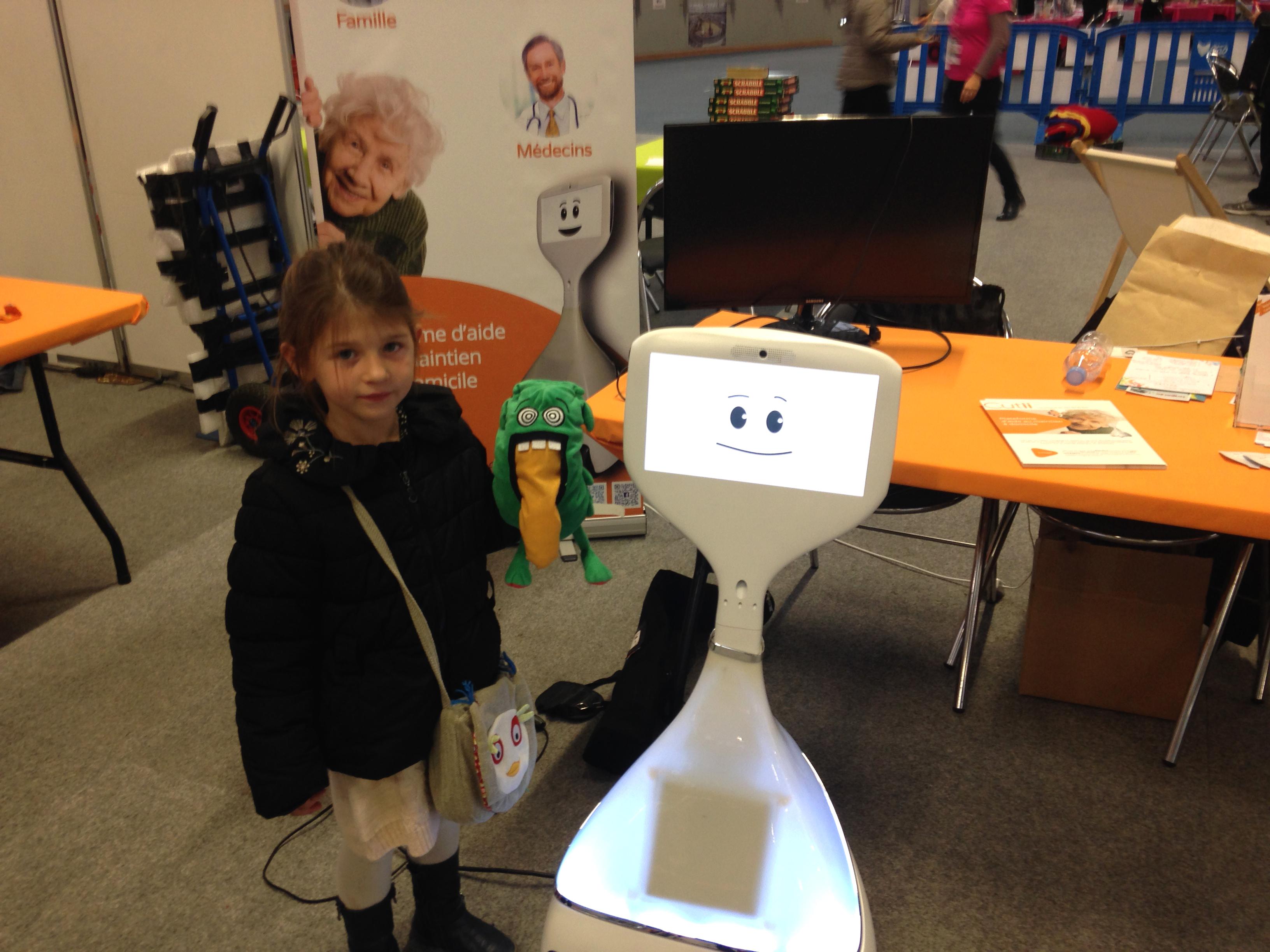 Un secteur en pleine expansion ! Ici, le robot Cutii, un androïde conçu à Roubaix.