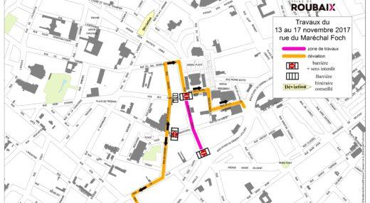 Travaux rue du Maréchal Foch