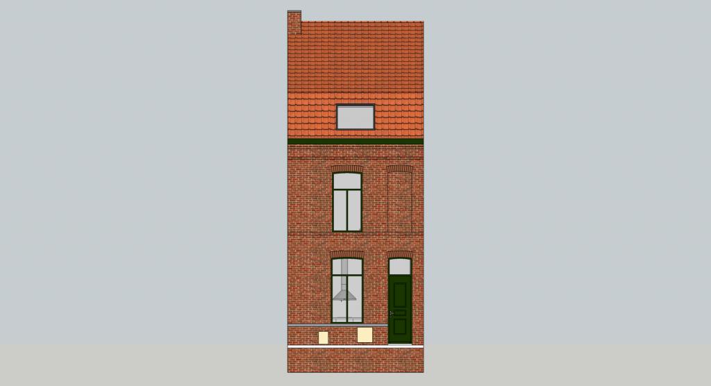 Maquette vue façade rue
