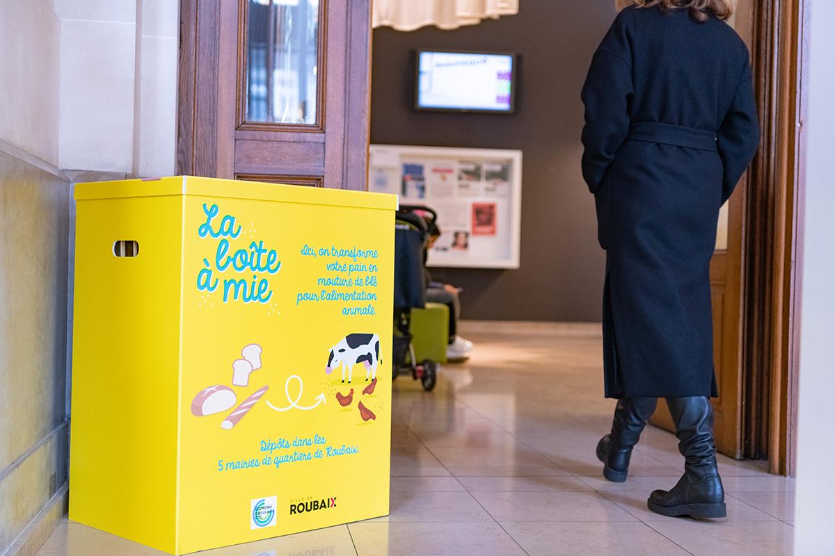 La boîte à mie proposé aux habitants dans les différentes mairies de la ville