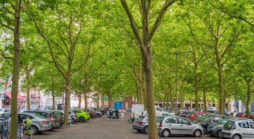 Vue du parking de LA POSTE à Roubaix