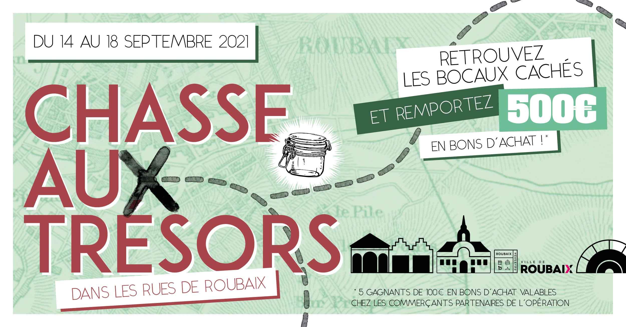 Bannière Chasse aux Trésors Roubaix Shoppoing