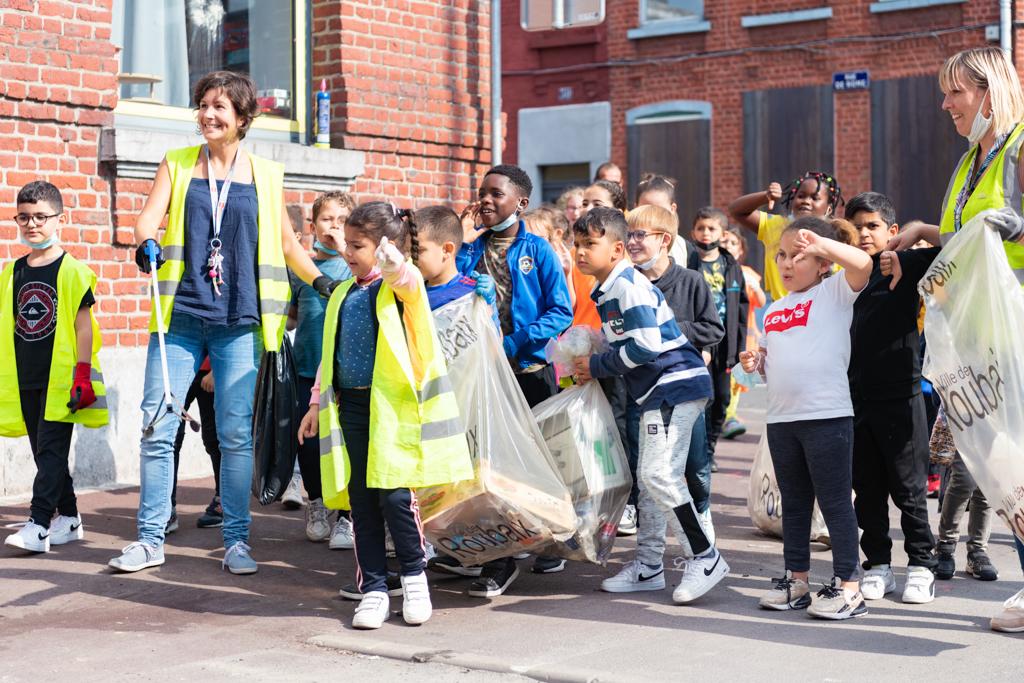 World Clean Up Day à l'école Littré